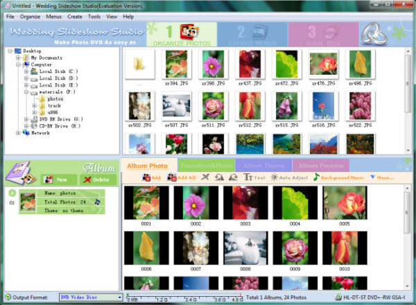 convert photos to VCD disc