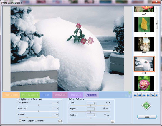 Make photo VCD slideshow